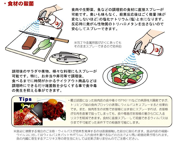 食材の殺菌